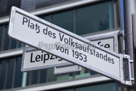 germany berlin sign of square of