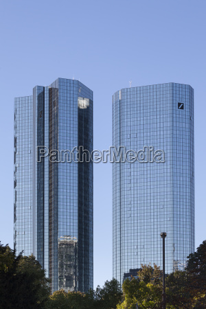 germany hesse frankfurt twin towers of
