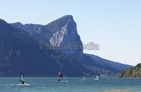 austria upper austria lake mondsee with