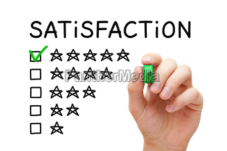 satisfaction five stars checklist concept