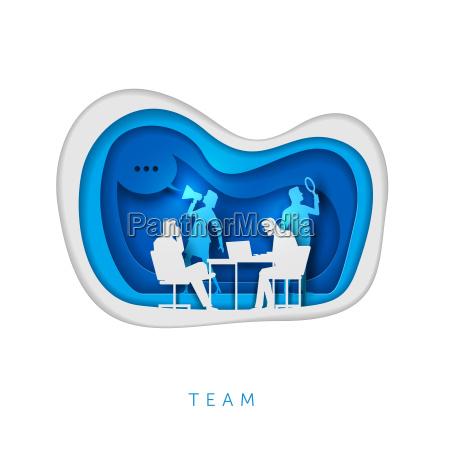 business concept paper art illustration