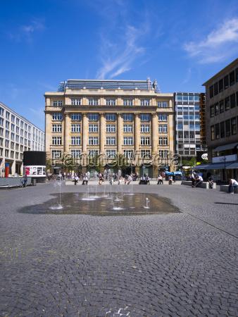 germany hesse frankfurt buildings at goetheplatz