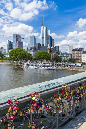 germany hesse frankfurt love locks at