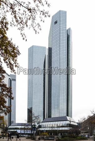 germany frankfurt hesse deutsche bank twin