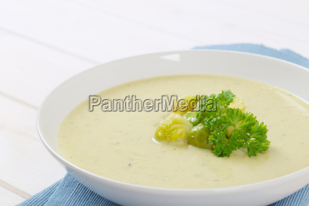 cream of brussels sprouts soup