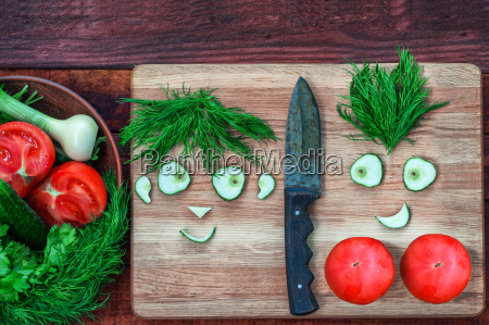 fresh tomatoes and cucumber in a