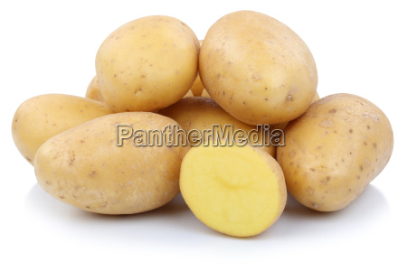 potatoes cut vegetables cut out isolated