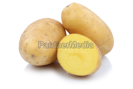 potatoes vegetable cut out isolated