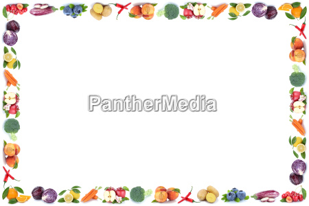 fruits and vegetables fruits frame copy