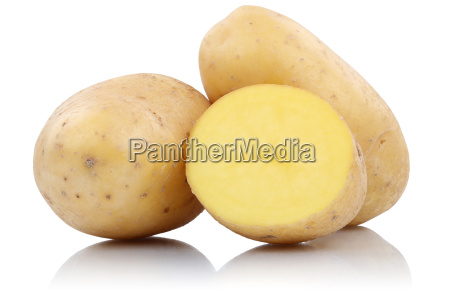 potatoes fresh vegetables cut out isolated