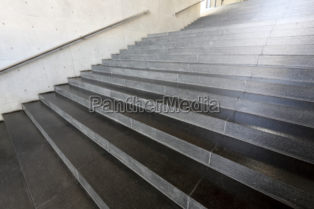 railing and stairs of a modern