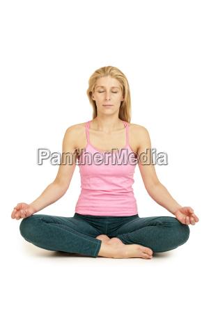 yoga woman pinkpadmasana