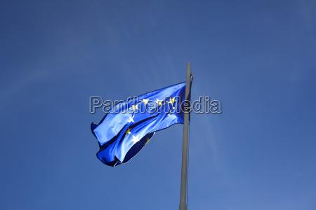 flag of european union on a