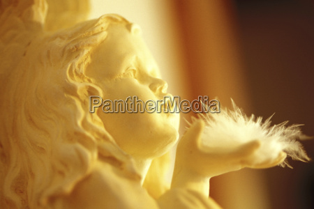 christmas angel statue close up