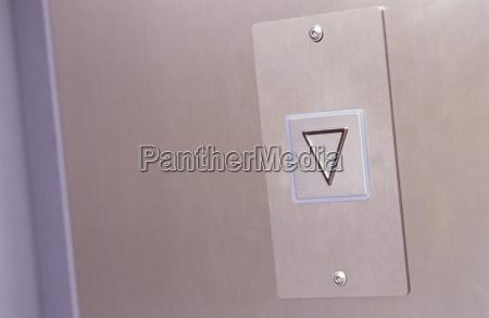 elevator button close up