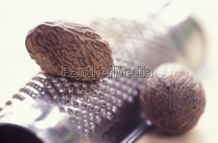 nutmeg and grater close up