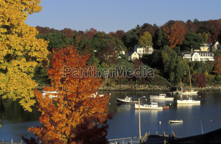 rockport maine indian summer usa