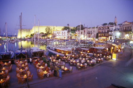 restaurants at the harbour of girne