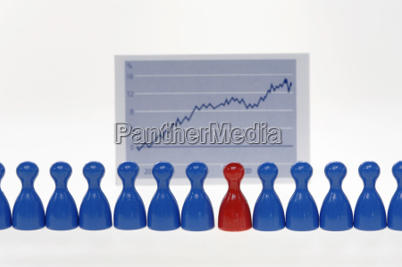 game pieces in front of graph