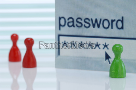 game pieces password field in background
