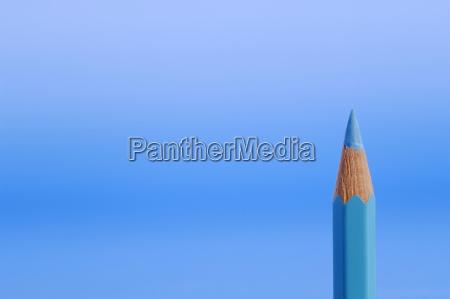 blue pencil close up