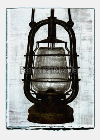 collage of oil lamp with texture