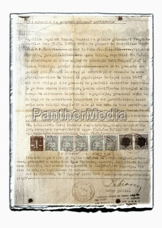 collage of old document with stamps
