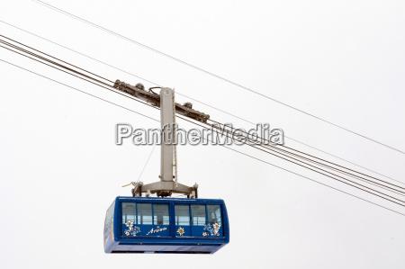 switzerland arosa skiing region mountain cable