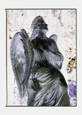 collage italy venice graveyard angel statue