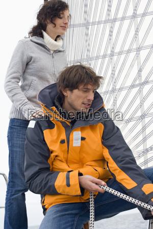 germany baltic sea luebecker bucht man