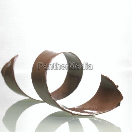 piece of chocolate close up