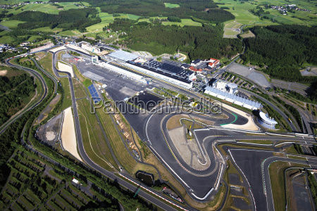 germany rhineland palatinate nuerburgring aerial view