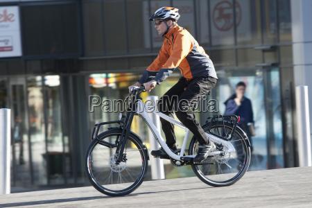 germany bavaria munich mature man cycling