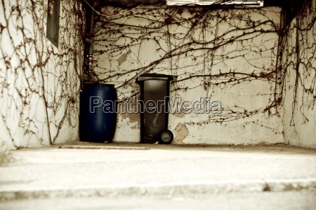 germany pfrorzheim a garbage can and
