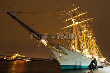 germany hamburg sailing ship moored at