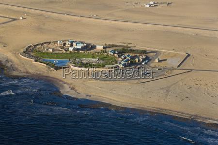 africa namibia swakopmund holiday resort aerial