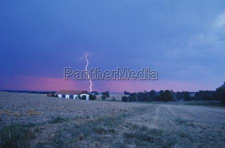 thunderstorm and lightning bavaria germany
