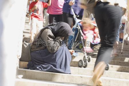 italy venice beggar woman