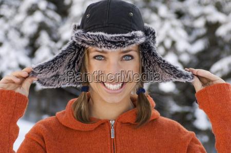 austria altenmarkt young woman wearing cap