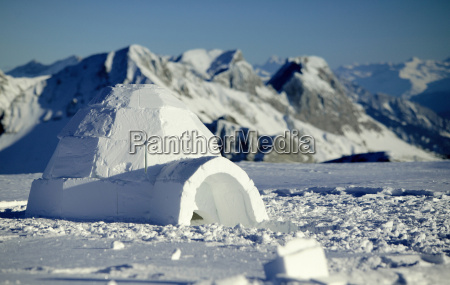 switzerland toggenburg traditional igloo in mountains