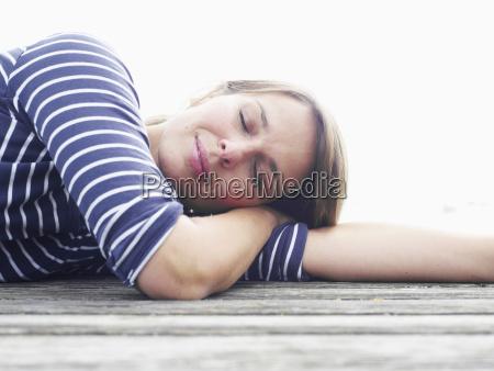 germany munich mature woman relaxation on