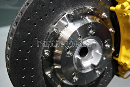 ceramic brake disc close up
