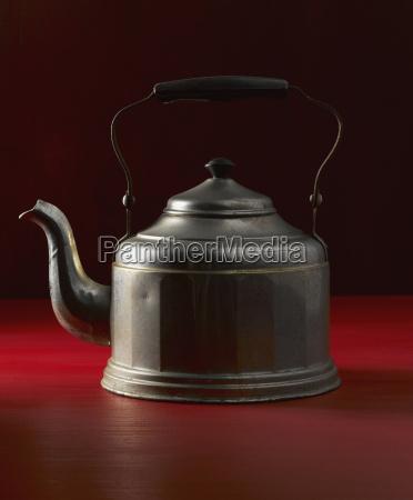 old tea kettle close up