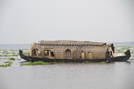 asia india kerala houseboat on vembanad