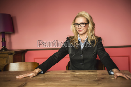 germany stuttgart businesswoman smiling portrait