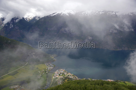 norway fjord norway aurlandsfjord with fog