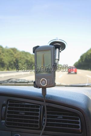 gps display in car