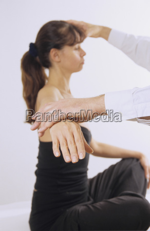 woman under medical treatment
