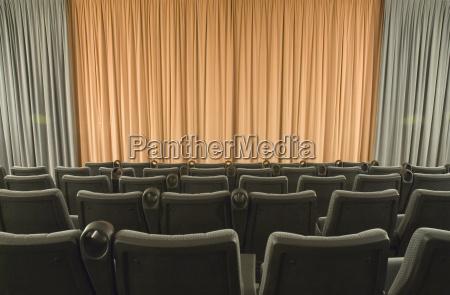 cinema seats curtain munich germany