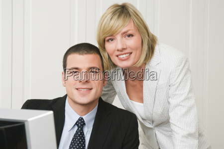 business people in office close up